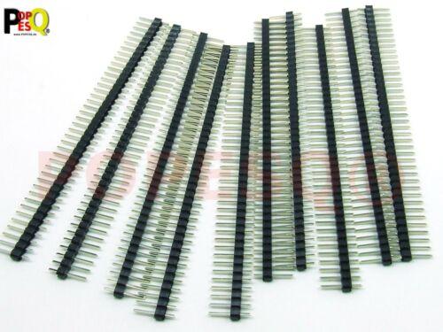x Stiftleiste 2.54mm 40 polig Ausschneidbar Gerade Arduino komp #A754 10 Stk