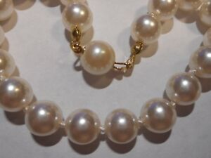 Vintage 8mm Majorca Pearl BRACELET Mint Unused Pearl Hidden Clasp