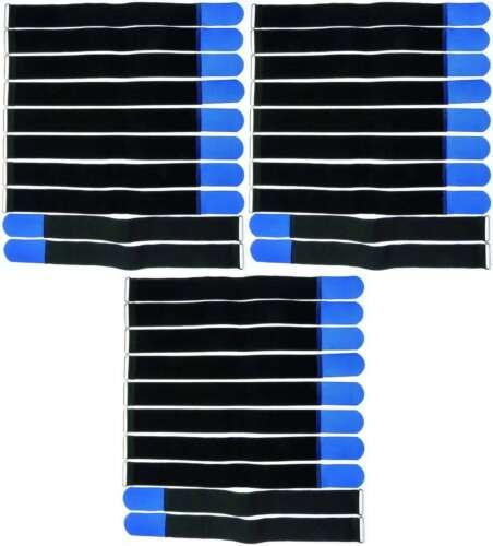 40 x cable cinta de velcro FK 16cm x 16mm azul cinta de velcro velcro cable cinta viga reticulada m ojal