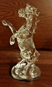 New-Crystal-Decorative-Standing-Horse-on-stand-Gift-box-Souvenir-Clear-UK-Seller