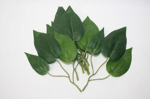 16 cm X 9 Hojas Verde Artificial Lirio Sprigs verdor Corsage Craft