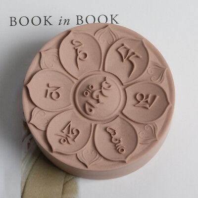 "Tibetan /""Om Mani Padme Hum/"" Stone Soap on Rope Silicone Mold"