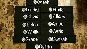 Details About You Choose Lot Of 12 Custom Personalized Embroidered Volleyball Team Headbands