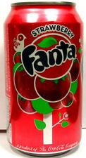NEW FULL 12 Ounce Can American Coca-Cola's Fanta Strawberry USA 2009