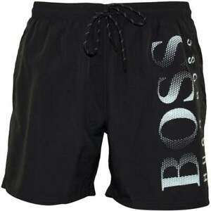75d0299b HUGO BOSS MEN'S OCTOPUS BRANDED SWIM SHORTS IN BLACK // BNWT // | eBay
