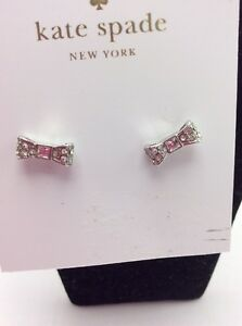 Image Is Loading 32 Kate Spade Ready Set Pave Bow Earrings
