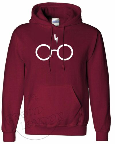 SCAR AND GLASSES| Unisex Hooded Pullover XS-XL New Blogger Fashion| |