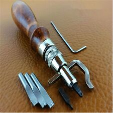Leather Craft Stitching Groover Skiving Edger Beveler Leather Working Tools Kit