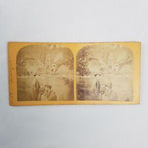 Carte-postale-ancienne-STEREO-albumine-Amerique-Etats-Unis