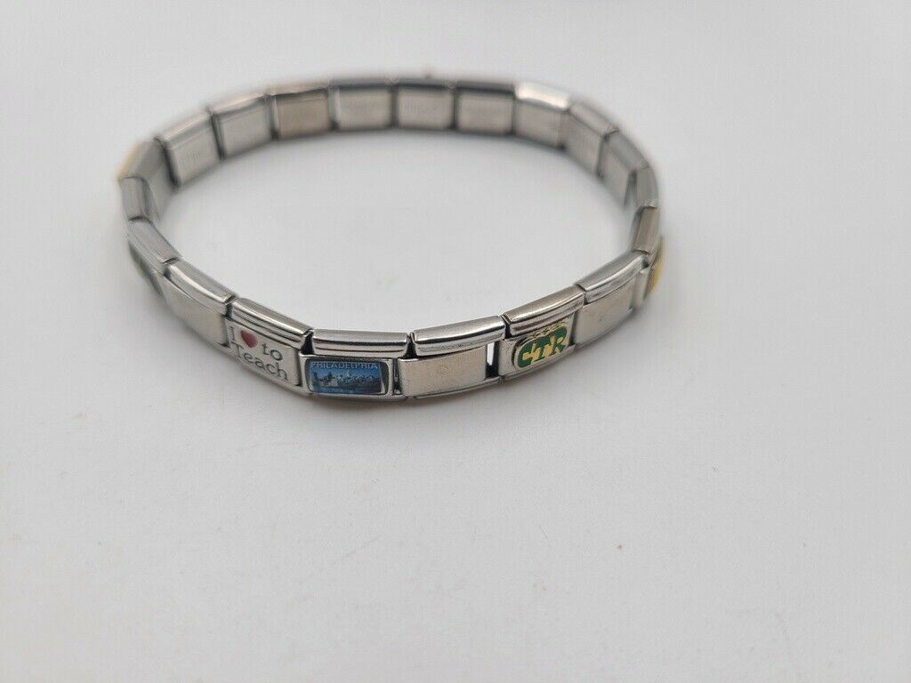 Star Of David Italian Charm Bracelet Link