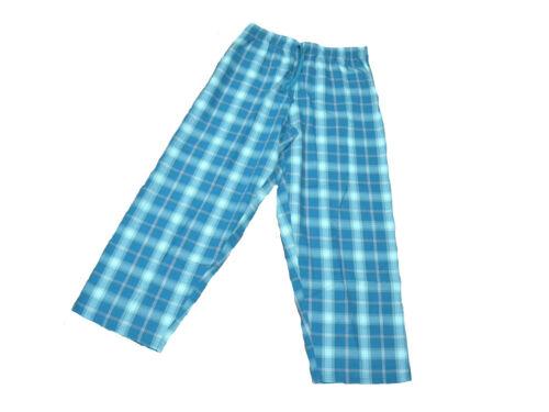Mens Cool Comfy Summer Cotton Check Loungepants Aqua Check Bargain Deal