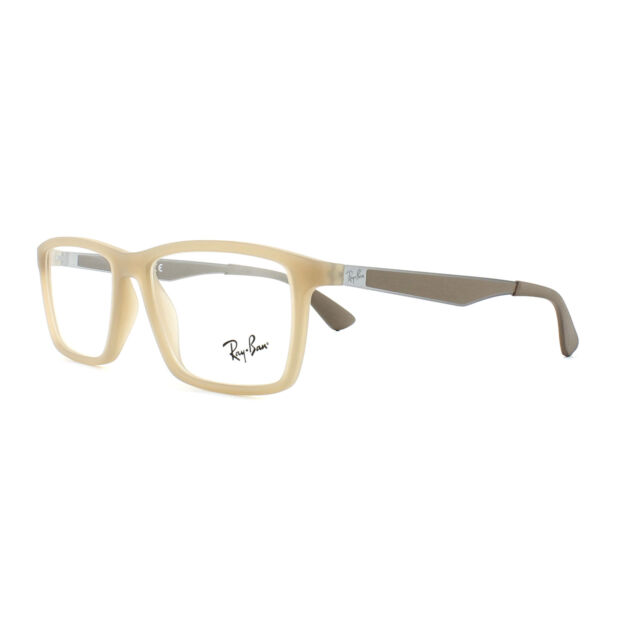 Ray-Ban Rb7056 5646 53/17 Beige Authentic Men Women Eyeglasses Frame ...