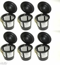 6 Reusable Refillable K-Cup Coffee Filter Pod for Keurig K50 & K55 Coffee Makers