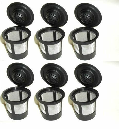 6 Reusable Refillable K-Cup Coffee Filter Pod for Keurig K50 K55 Coffee Makers