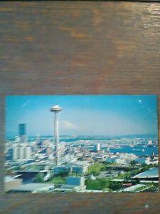 Air View Over Seattle Washington Photo Post Card Seattle Washington