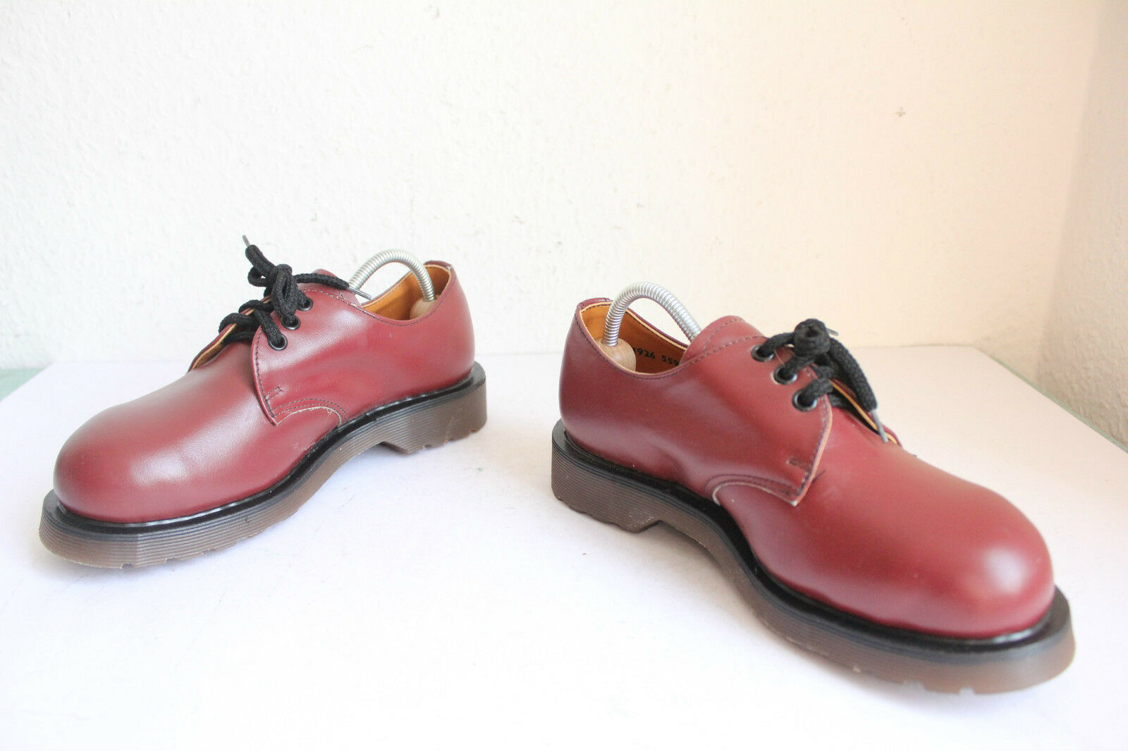 Vintage Dr.Martens Safety Schuhe Weinrot Eu 37-Uk 4 4 4 Made in England--Wie Neu- 031d74