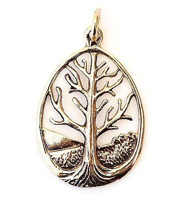 Diszipliniert Neu Bronze AnhÄnger Weltenbaum / Lebensbaum KettenanhÄnger Baum Des Lebens