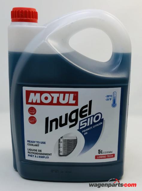 Anticongelante Refrigerante Peugeot Citröen MOTUL Inugel 5110 -35°C, 5 Lts