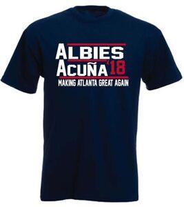 timeless design 7ef7b d090c Details about Ronald Acuna Jr Ozzie Albies Atlanta Braves 18 T-Shirt