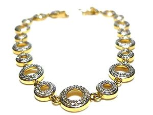Image Is Loading Qvc Designer Sterling Silver Gold Wash Circle Link
