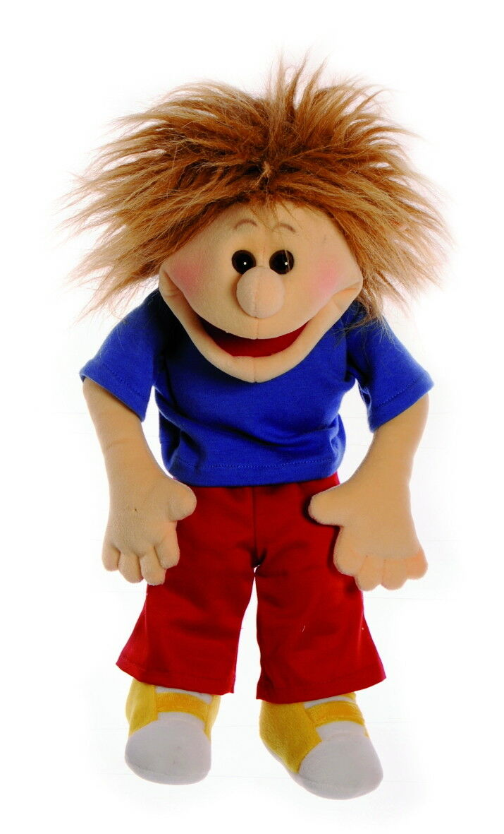 Handpuppe 40cm Erikchen Quasselbande BauchROTnerpuppe für Kinder Living Puppets