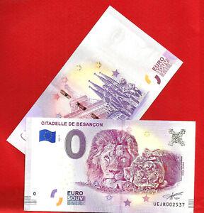 BILLET-Banknote-EURO-SOUVENIR-TOURISTIQUE-BESANCON-2018-lettre-suivie