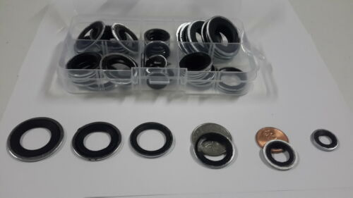 50 pcs AC Sealing Washer Assortment for GM Cars A//C Service Washers Kit popular