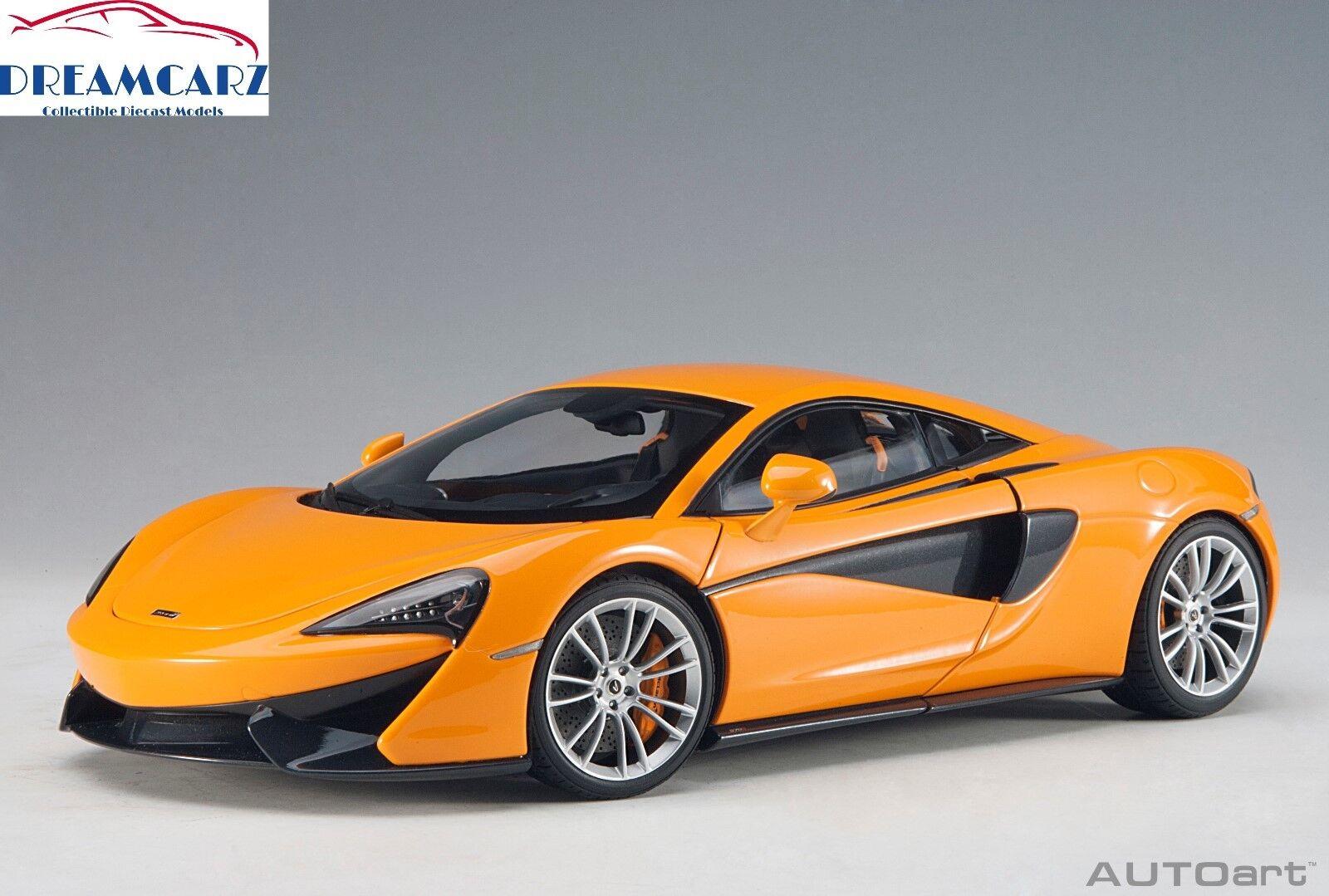 Autoart 76044 1 18 McLaren 570S-McLaren arancia Con Ruedas De argento