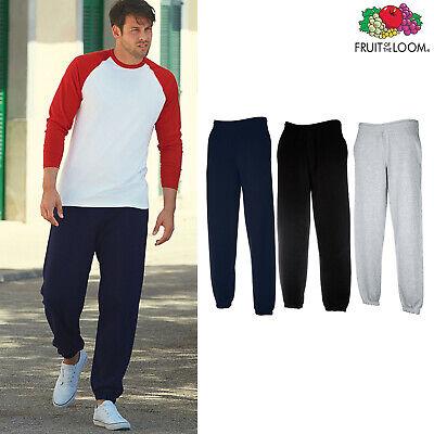Jogging Bottoms Fruit Of The Loom Mens Premium 70//30 Elasticated Jog Pants
