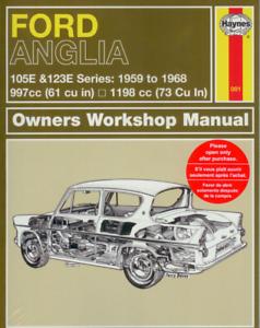 Haynes Workshop Manual Ford Anglia 105E 123E 307E 309E1959-1968 New Repair