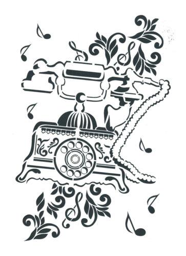 JITTENMEIER 1 Laser Schablone GEGENSTÄNDE FASHION Stencil für Textil Wand u.a
