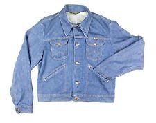 VTG 90's Wrangler Indigo Denim Jean Jacket Mens Size 44 Large Made in USA