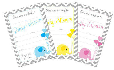 16 A6 Baby Shower Christening Invitations Invites neutral or boy girl