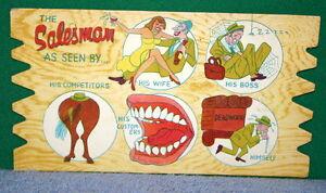 Vintage-KOMIC-KARD-POSTCARD-PLAK-Comical-Post-Card-Vintage-Humor-Plaque