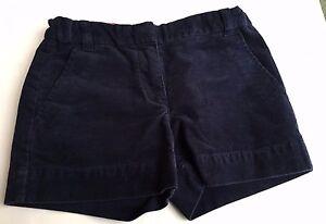Kids-Crewcuts-Girls-Corduroy-Navy-Blue-Shorts-Size-8-Summer