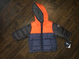 b78aa0d18 OshKosh B gosh Infant Boys Quilted Colorblock Heavyweight Puffer ...