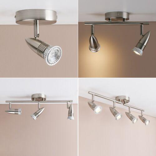Brushed Steel Bullet Spotlight Range LED Ceiling Lighting Bar Fitting Chandelier