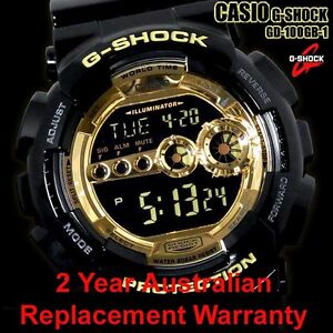 CASIO-G-SHOCK-WATCH-GD-100GB-1-FREE-EXPRESS-BLACK-GOLD-GD-100GB-1DR-2Y-WARRANTY