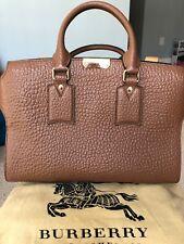 Burberry Medium Clifton Signature Grain Leather Satchel - Black for ... 7539026627d25