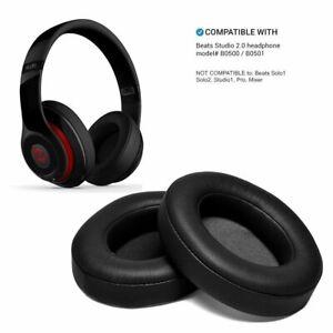 Cuscinetti-auricolari-di-ricambio-per-Beats-Studio-2-0-3-0-B0500-B0501-in-Nero