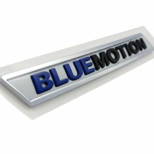 Original Volkswagen Blue Motion Lettering Emblem Sticker Adhesive