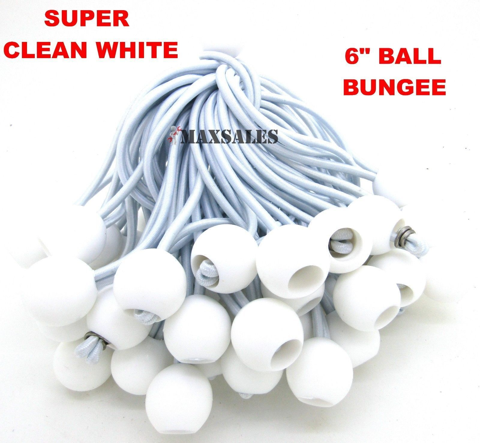 "9/"" BLACK Ball BUNGEE Cord Tarp Bungee Tie Down Strap Bungi Canopy Straps 50"