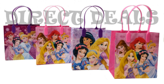 100 x Plastic Gift Bag 20 x 25cm Party Loot Candy Treat Bags Balloon Girl
