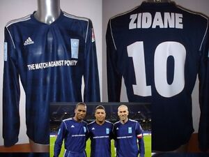 Adidas-ZIDANE-Shirt-Jersey-France-L-2011-Match-Against-Poverty-Soccer-Football