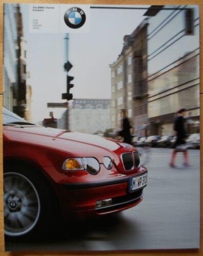 BMW 3 SERIES COMPACT 2002 2003 Prestige 90p UK Mkt Sales Brochure Prospekt