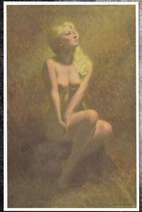 Earl Moran Authentic Pin-Up Poster Art Print 11x17 Blonde Nude