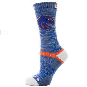 Strideline-Athletic-Crew-Socks-Boise-State-Blue-Heather-4100411-Strapped-Men-039-s
