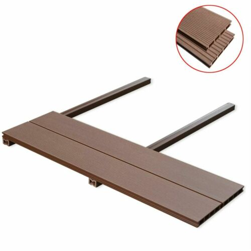 vidaXL WPC Decking Boards with Accessories 2.2//2.4 m Hollow Tile Multi Choice