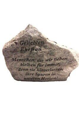 """Sonstige Branchen & Produkte Bestattungsbedarf Gedenkstein """"geliebten Ehefrau..."""" Vidroflor Steinguss Friedhof Frostfest 15560"""
