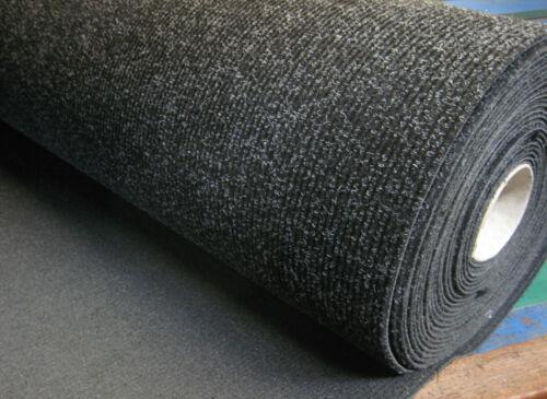 1m x 2m anthracite côtelé tapis avec latex soutien-automobile//garniture//trim//voiture